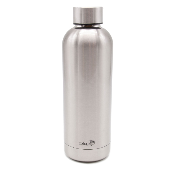 robuste Thermosflasche aus doppelwandigem Edelstahl mit auslaufsicherem Edelstahldeckel, Fassungsvermögen ca. 500 ml, Serie C025