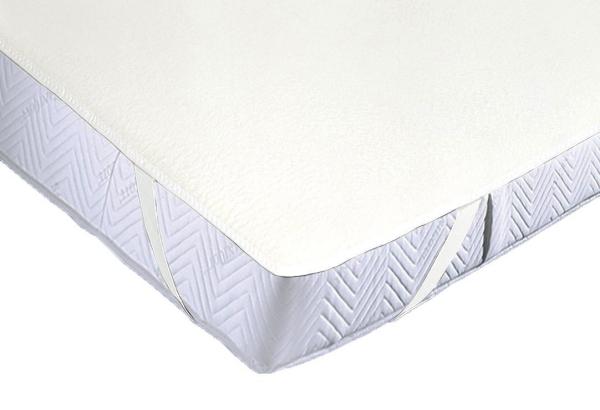 Wasserundurchlässige Matratzenauflage mit Oberseite Frottee-Gewebe und Unterseite Polyurethanfolie, verfügbar in sechs verschiedenen Größen ca. 70x140 cm, Farbe rohweiß, Serie Basic-Care/A
