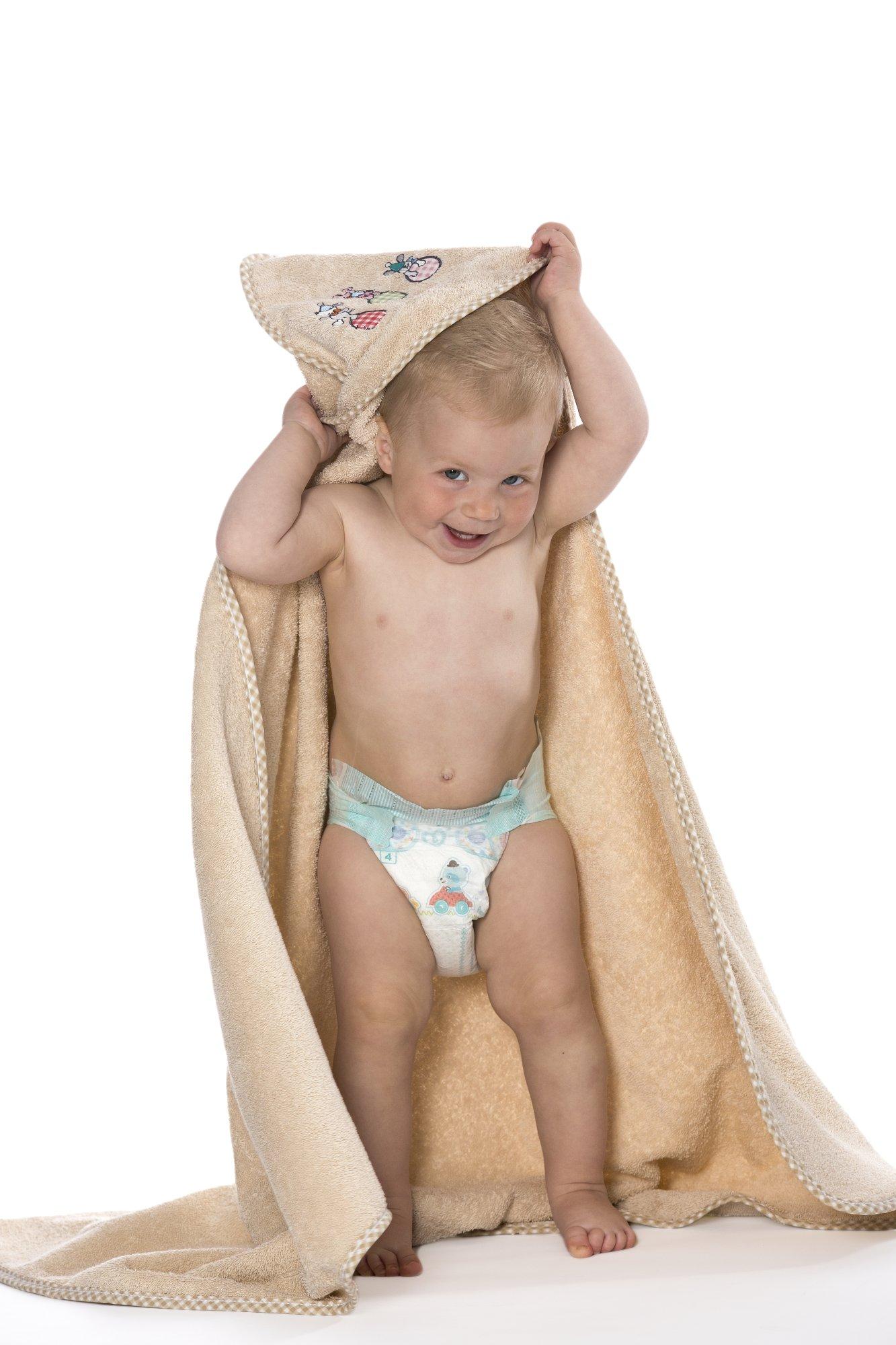 kuscheliges kapuzenhandtuch f r babys und kleinkinder aus 100 baumwolle gr e ca 100x100 cm. Black Bedroom Furniture Sets. Home Design Ideas
