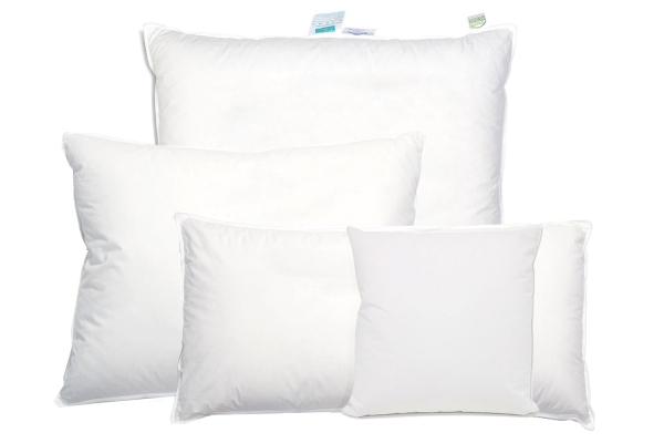 hochwertiges Federkissen/Kopfkissen versteppt, Füllung: 90% Daunen/10% Federn, verfügbar in den Größen 40x40 cm, 40x80 cm, 60x80 cm, 70x80 cm und 80x80 cm, Farbe weiß