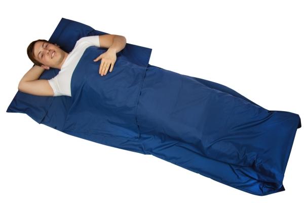 Hüttenschlafsack aus Mikrofaser, Größe ca. 90x220 cm, marine