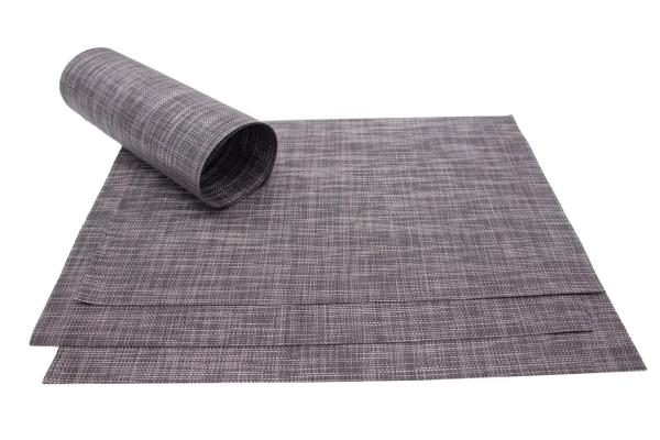 4er-Set hochwertige Tischsets aus PVC und Polyester, Größe ca. 30x45 cm, verfügbar in den Farben braun, stein und graphit, Serie Mel