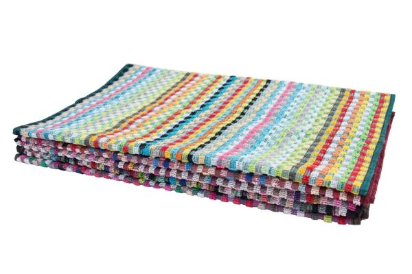 5er-Set Allzwecktücher/Küchenhandtuch aus 100% saugfähiger Baumwolle, Größe ca. 45x90 cm, bunt sortiert, Serie 75103
