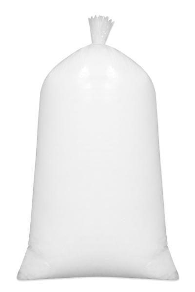 Kochfeste Kissenfüllung aus 100% silikonisierte Polyesterhohlfaser-Flocken, Menge: 1 kg, 1000g, Farbe weiß, Serie Fill-In