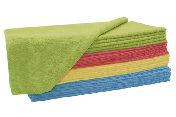 Putztücher/Microfasertücher-Set aus 80% Polyester/20% Polyamid, Größe ca. 32x32 cm, farblich gemischt, verschiedene Setgrößen, Serie Polino