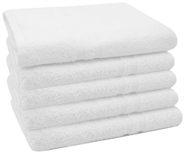 2er-Set kochfeste Duschtücher aus 100% saugfähiger Baumwolle, Größe ca. 70x140 cm, Farbe weiß, Serie Amalfi