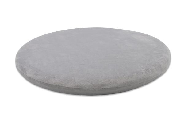 hochwertiges Viskose-Sitzkissen aus 100% anpassungsfähigem Polyurethan, rund, Farbe grau Serie Sano