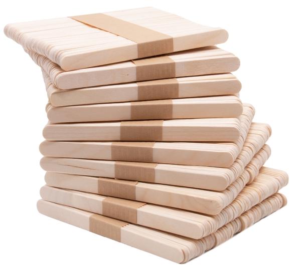 500er Set Holzstiele aus naturbelassenem Kirschbaumholz, Größe ca. 1x11 cm