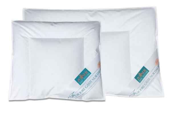Kinderkopfkissen/Babykopfkissen versteppt, Füllung: 90% Daunen/10% Federn, verfügbar in den Größen ca. 35x40 cm und ca. 40x60 cm, Farbe weiß