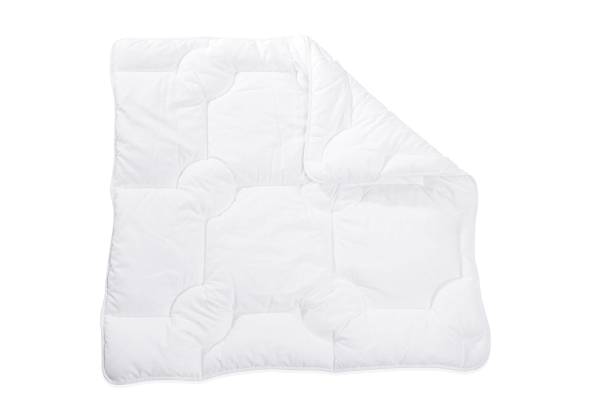 Kochfeste Kinderbettdecke/Babybettdecke mit atmungsaktiver Polyester-Füllung, verfgübar in den Größen ca. 80x80 cm und ca. 100x135 cm, Farbe weiß, Serie Bambini