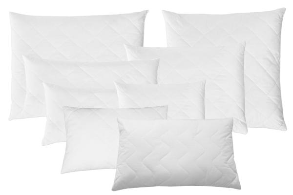 2-er Set Kopfkissen versteppt aus 100% Polyester, verfügbar in vier verschiedenen Größen, Farbe weiß