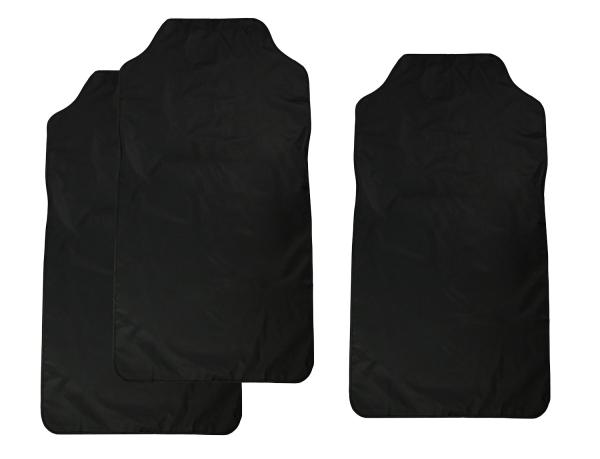 Sitzbezug aus Kunststoff für Vordersitze, Größe ca. 69x120 cm, Farbe schwarz, erhältlich einzeln oder im 2-erSet, Serie Seat-Care