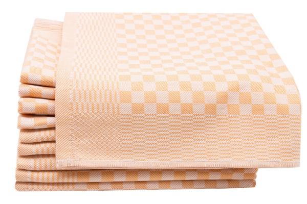 10er-Set Geschirrtücher aus 100% Baumwolle, Größe ca. 46x70 cm, verfügbar in fünf kräftigen Farben, kariert, Serie Carola