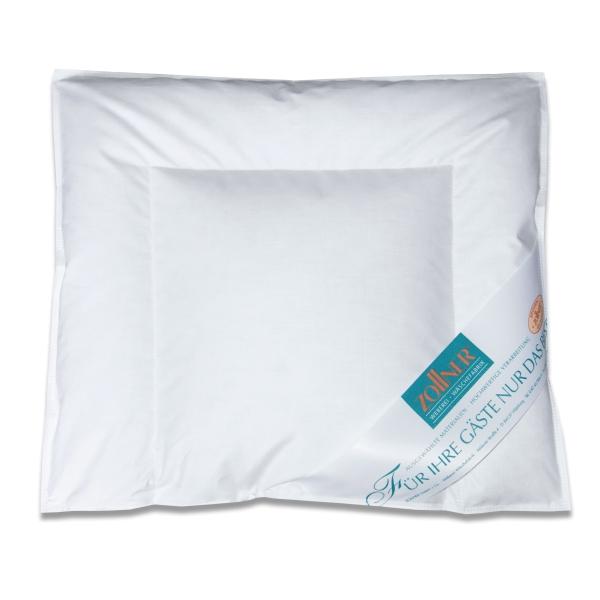 Kinderkopfkissen/Babykopfkissen versteppt, Füllung: 90% Daunen/10% Federn, verfügbar in den Größen ca. 35x40 cm und ca. 40x60 cm, Farbe weiß, Serie Holle