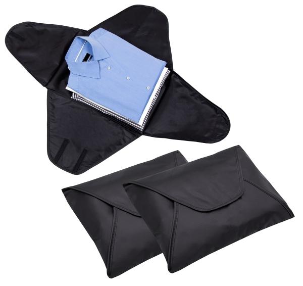 3-er Set Hemdentasche aus strapazierfähigem Kunststoff, Größe ca. 43x30 cm, Farbe schwarz, Serie Shirt-Care