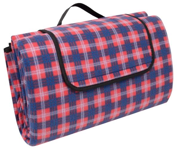 wasserdichte Picknickdecke, Größe ca. 200x200 cm, verfügbar in der Farbe rot-blau-weiß-kariert