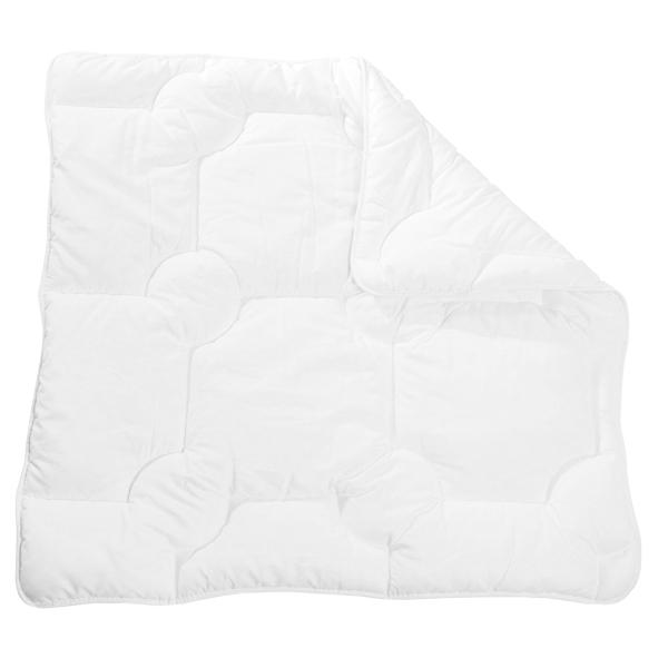 Kochfeste Kinderbettdecke/Babybettdecke mit atmungsaktiver Polyester-Füllung, verfügbar in den Größen ca. 80x80 cm und ca. 100x135 cm, Farbe weiß, Serie Bambini