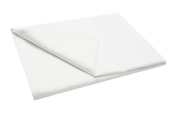 Robustes Betttuch/Bettlaken ohne Gummizug aus 100% robuster Baumwolle, verfügbar in den Größen ca. 160x285 cm, 180x290 cm und 240x290 cm, Farbe weiß, Serie 71002