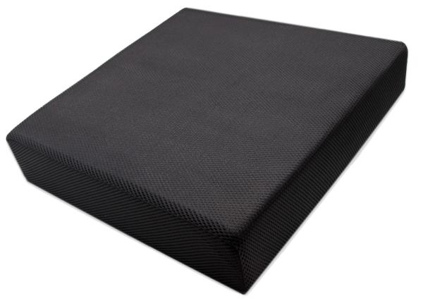 hochwertiges Viskose-Sitzkissen aus 100% anpassungsfähigem Polyurethan, ca. 40x40x8 cm, Farbe schwarz