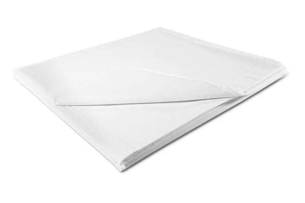Schlichtes und zugleich edles Betttuch/Bettlaken aus 100% Baumwolle, ohne Gummizug, verfügbar in fünf verschiedenen Größen, Farbe weiß, Serie Maxi/Meteor