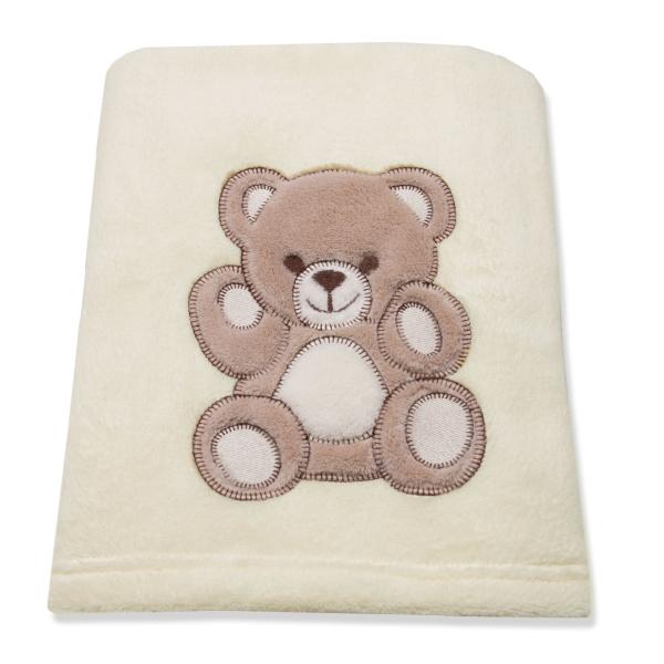 Babydecke/Kuscheldecke aus 100% Polyester, verfügbar in der Größe ca. 75x100 cm, in zwei verschiedenen Farben: wollweiß und marine, Serie Balu
