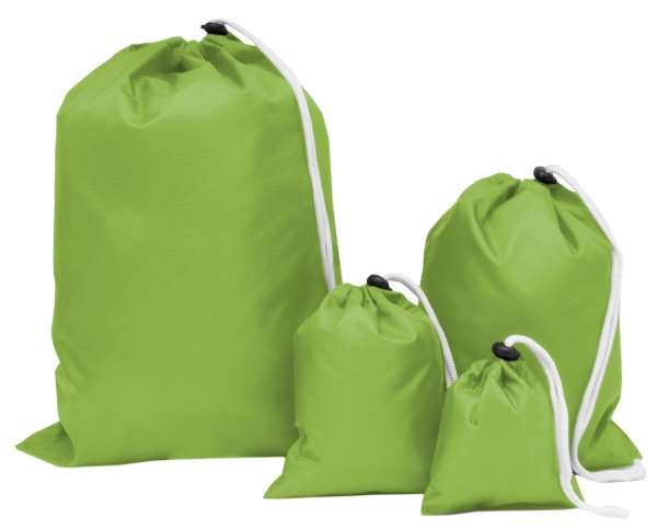 4er-Set Aufbewahrungsbeutel in vier verschiedene Größen, aus wasserdichtem Polyester, erhältlich in vier verschiedenen Farben, Serie D017