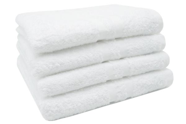 4er-Set kochfeste Handtücher aus 100% saugfähiger Baumwolle, Größe ca. 50x100 cm, Farbe weiß, Serie Amalfi