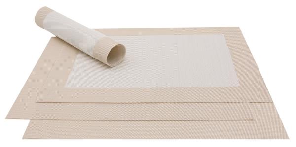 4er-Set Tischsets gewebt aus PVC und Polyester, Größe ca. 32x47 cm, verfügbar in vielen verschiedenen Farben, Serie Top