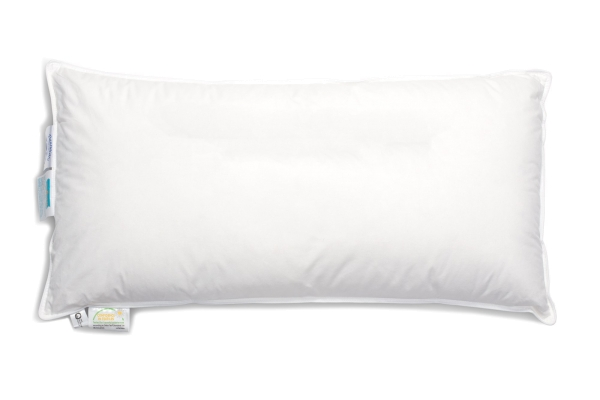 Hochwertiges Federkissen/Kopfkissen versteppt, Füllung: 90% Daunen/10% Federn, verfügbar in den Größen 40x80 cm, 60x80 cm, 70x80 cm und 80x80 cm, Farbe weiß, Serie Trio
