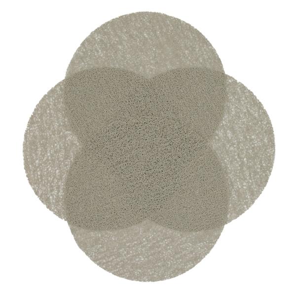 4er-Set hochwertige Tischsets aus strapazierfähigem Kunststoff, Durchmesser ca. 38 cm, verfügbar in den Farben beige, grün, schwarz und grau, Serie Sol