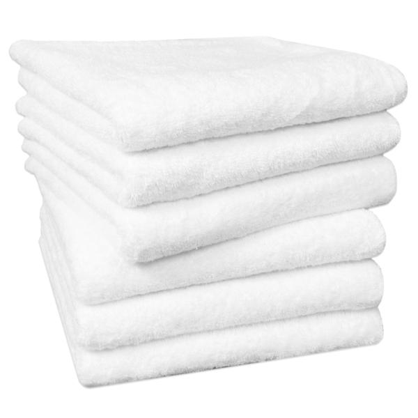 6er-Set Handtuch aus 100% saugfähiger Baumwolle, Größe ca. 50x100 cm, in vier verschiedenen Farben (weiß, sonne, apfelgrün, taupe), Serie Star-Elba