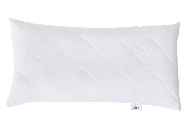 Hochwertiges Kopfkissen versteppt aus 100% Polyester, verfügbar in acht verschiedenen Größen, Farbe weiß, Serie Davos