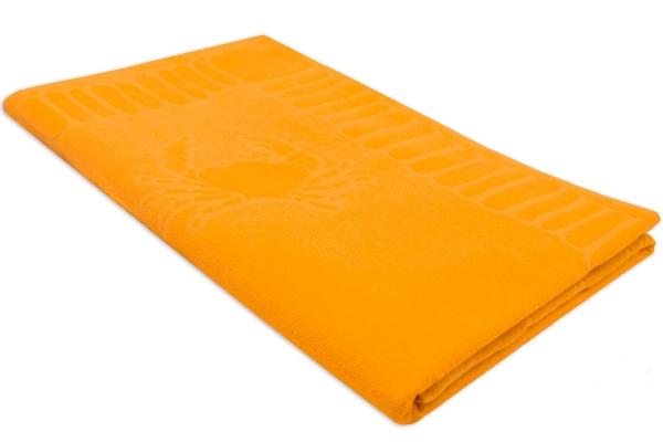 Hochwertiges Strandlaken mit Meerestiermuster aus 100% saugfähiger Baumwolle, Größe ca. 100x200 cm, verfügbar in vielen sommerlichen Farben, Serie Adria