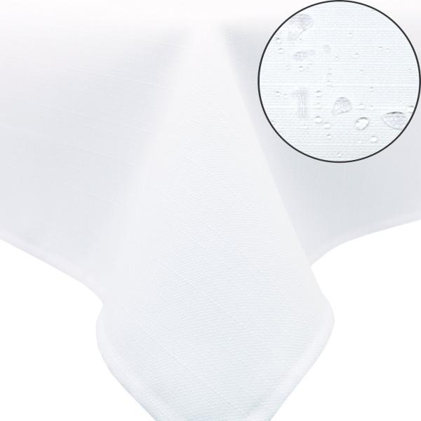 Abwischbare Tischdecke aus 100% Polyester, mit Fleckschutzausrüstung, verfügbar in den Größen ca. 140x180 cm und 140x220 cm, wählbar in sieben modischen Farben, Serie Perla