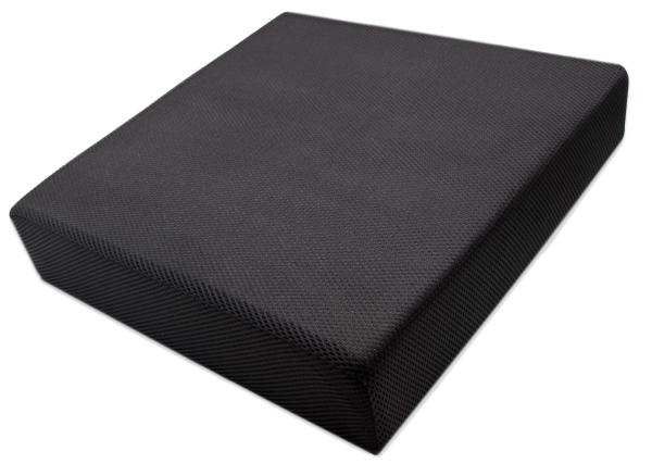hochwertiges Viskose-Sitzkissen aus 100% anpassungsfähigem Polyurethan, ca. 40x40x8 cm, Farbe schwarz, Serie Sano