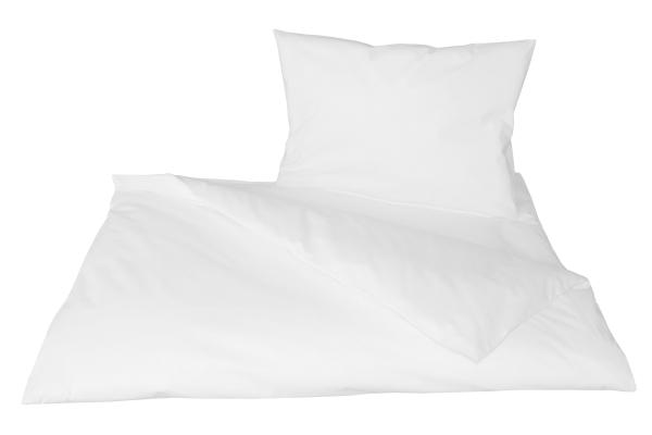 2-teilige Kinderbettwäsche-Garnitur aus hochwertiger Baumwolle mit Hotelverschluss (ca. 40x60 cm + ca. 100x135 cm), Farbe weiß, Serie 22400,