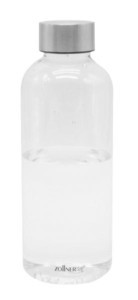 durchsichtige Wasserflasche aus BPA-freiem Tritan-Kunststoff mit Edelstahlkappe