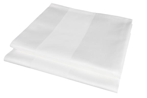 2er-Set Vollzwirn Damast Tischläufer aus 100% Baumwolle, erhältlich in der Größe 50x130 cm, Farbe weiß, Serie Atlas