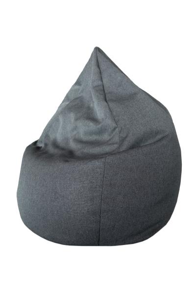Bequemer Sitzsack, Bezug besteht aus 100% strapazierfähigem Polyester, Füllung aus Styroporkügelchen, Farbe grau, Serie Sisa